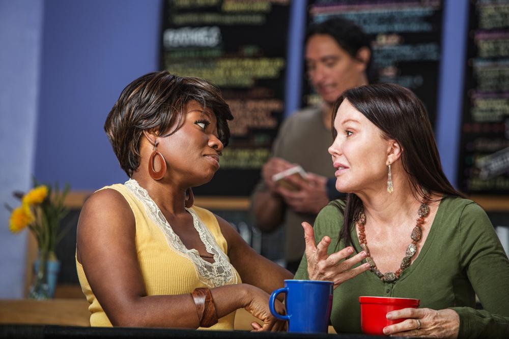 Bronx: Women in a coffee house talking