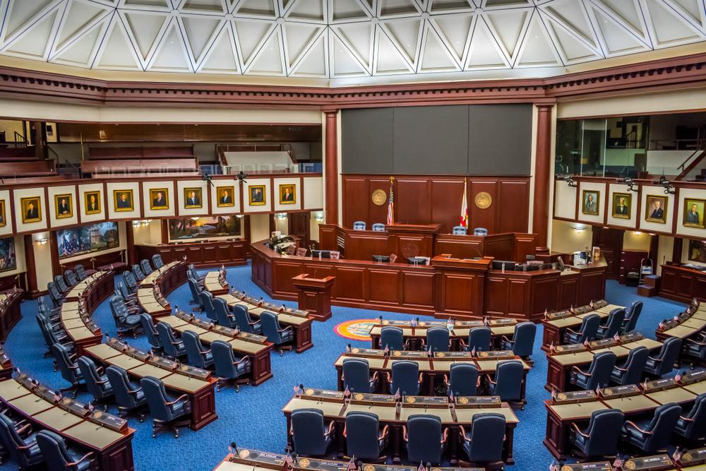 Florida: large meeting hall of Florida Senate Chamber